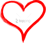 Free Png Hand Drawn Heart Png Image With Transparent - Hand Drawn Heart Transparent Background, Png Download