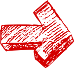 Red Hand Drawn Arrow Icon, HD Png Download
