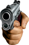 Sticker Free To Use - Hand With Gun Png, Transparent Png