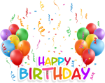 Happy Birthday Balloons Background Background Ballons - Happy Birth Day Background Png, Transparent Png