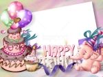 Free Png Happy Birthday Transparent Frame Background - Khung Ảnh Happy Birthday, Png Download