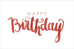 Happy Birthday Calligraphy Png Image - Happy Birthday Font Png, Transparent Png