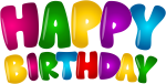 Free Png Download Happy Birthday Colorful Text Png - Happy Birthday Text Png, Transparent Png