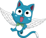 Happy Fairy Tail Png - Fairy Tail Happy, Transparent Png