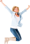 Happy Person Jumping Png - Happy Woman Transparent Background, Png Download
