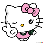 Hello Kitty New Drawing, HD Png Download