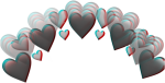 #glitch #tumblr #selfie #snapchat #facebook #corazon - Blue Heart Crown Png, Transparent Png