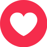 Facebook Heart - Transparent Facebook Heart Icon, HD Png Download