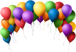 Free Png Download Balloon Arch Transparent Png Images - Transparent Background Birthday Balloons Clipart, Png Download
