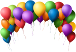 Balloons Background Png - Balloon Arch Clip Art, Transparent Png