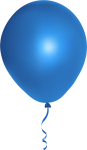 Blue Balloon Png Image - Blue Balloons Png Transparent, Png Download