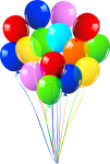 Ballons Clipart Balloon Bunch - Happy Birthday Balloons Png, Transparent Png
