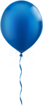 Free Png Download Single Blue Balloon Png Images Background - Transparent Background Blue Balloon Png, Png Download