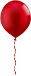 Free Png Download Single Red Balloon Png Images Background - Red Balloon Png Transparent, Png Download