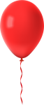 Red Balloon Transparent Png Clip Art Image - Red Balloon Clipart Png, Png Download