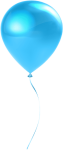 Free Png Download Single Sky Blue Balloon Transparent - Baby Blue Balloon Clipart Transparent Background, Png Download