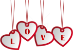 Free Png Download Hanging Love Hearts Png Images Background - Happy Birthday Love Png, Transparent Png