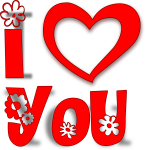 I Love Png - Love You Stickers Png, Transparent Png
