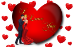 I Love You Loving Couple Red Heart Desktop Hd Wallpaper - Love You Photo Download, HD Png Download