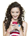 Girl With Mobile Png - Idea Postpaid, Transparent Png