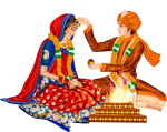 Find Lakhs Of Indian Brides & Grooms In - Hindu Wedding Couple Clipart, HD Png Download