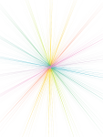 #ftestickers #colorful #lines #rays #star #line #ray - Circle, HD Png Download