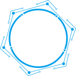 Technology Border Blue Simple Line Png And Psd - Circle, Transparent Png