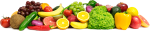 Frutas - Line Of Fruits And Vegetables, HD Png Download