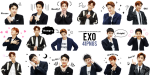 Line Stickers Png - Pack Exo Sticker Png, Transparent Png