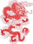 Reportar Abuso - Chinese Dragons Line Art, HD Png Download