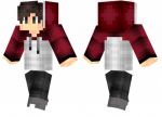 What Is Special About Maroon Skin - Minecraft Skins Red Jacket, HD Png Download