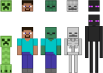 Minecraft Vector Character - Characters From Minecraft, HD Png Download