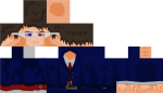Image - Skin Anonymous Minecraft Pe, HD Png Download