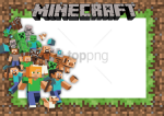 Free Png Convite Minecraft Png Image With Transparent - Moldura Para Foto Minecraft, Png Download