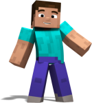 Report Abuse - Minecraft Character Transparent, HD Png Download
