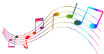 Transparent Colorful Note Png Clipart - Colorful Music Notes Transparent Background, Png Download
