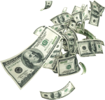 New Money Floating Falling - 100 Dollar Bill, HD Png Download