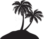 Free Png Island With Palm Trees Silhouette Png - Palm Tree Silhouette Png, Transparent Png