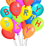 Picture Royalty Free Download Party At Getdrawings - Happy Birthday Balloons Clip Art Free, HD Png Download
