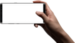 Samsung Galaxy The Official - Hands Holding Phone Png, Transparent Png