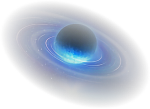 Saturn Planet Gas Rings Blue Faded - Earth, HD Png Download