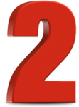 Number 2 Png Free Download - Number 2 In Red, Transparent Png