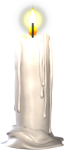 Candle Sticker - Transparent Candle Png, Png Download