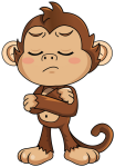 Cute Monkey Stickers Messages Sticker-8 - Monkey Stickers For Whatsapp, HD Png Download