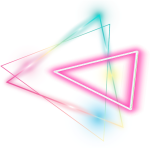 Triangle Sticker - Glowing Neon Triangle Png, Transparent Png