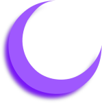 Moon Purple Aesthetic Tumblr Sticker Adesivos Png Aesthetic - Circle, Transparent Png