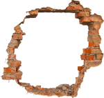 #pared #broken #orange #tumblr - Transparent Hole In Wall, HD Png Download