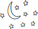 Glitch Planets Planet Stars Tumblr Aesthetic Png Tumblr - Moon And Stars Transparent, Png Download
