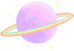 Tumblr Sticker - Aesthetic Planet Gif Png, Transparent Png