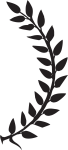 Laurel Leaves Right-01 - Crown Of Leaves Png, Transparent Png